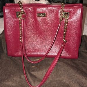 Kate Spade Burgundy and Gold Leather Purse NEW